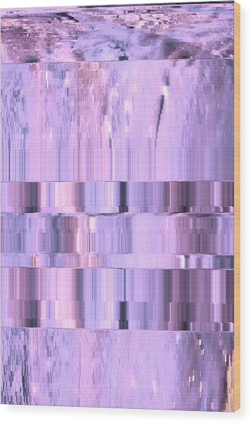 Digitized Purple Wood Print by Colleen Cannon