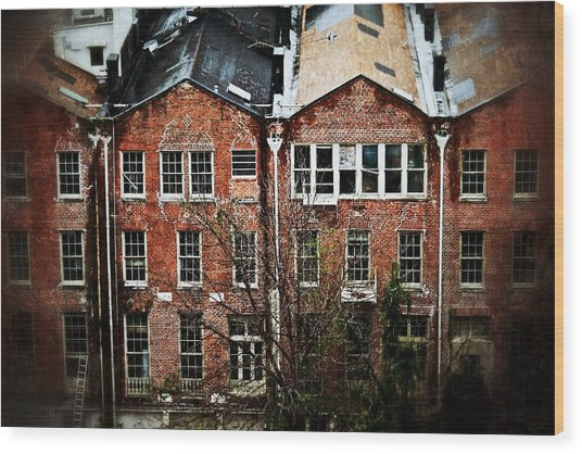 Dilapidated Building On Poydras Street Wood Print