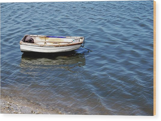 Dingy In St Augustine Bay Wood Print by Jim and Kim Shivers
