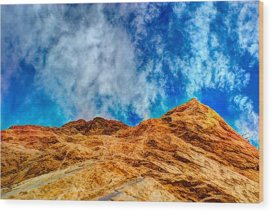 Dirt Mound And More Sky Wood Print