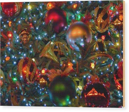 Disneyland Christmas Ornaments Wood Print by Daniel Dodd