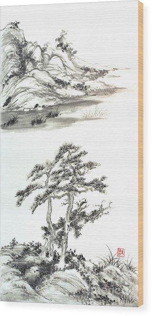 Distant Lands Wood Print by Yolanda Koh