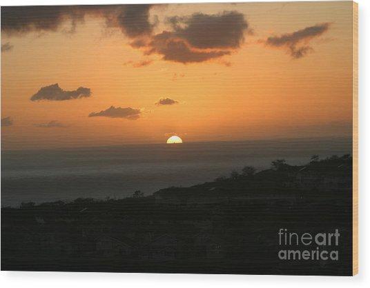 Distant Sunset Wood Print