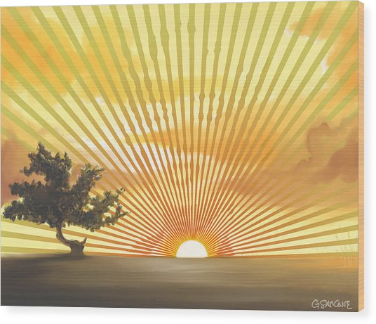 Diva's Sunset Wood Print