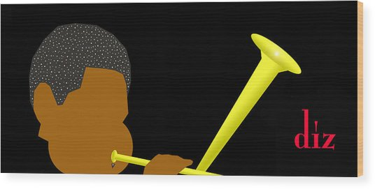 Dizzy Gillespie Wood Print by Victor Bailey