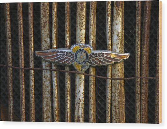 Dodge Brother Emblem Wood Print by Penny  Ryan