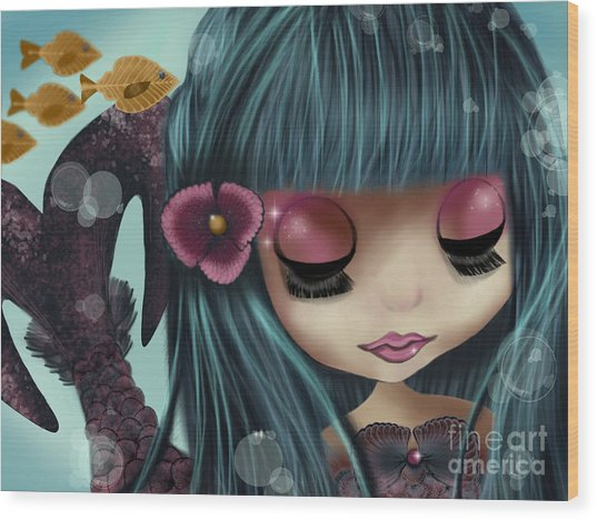 Doll From The Sea Wood Print