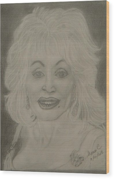 Dolly Parton Wood Print
