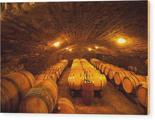 Domaine Pinquier-burgundy France Wood Print by John Galbo
