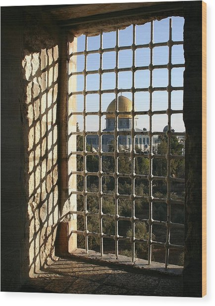 Dome Of The Rock Wood Print by Tia Anderson-Esguerra