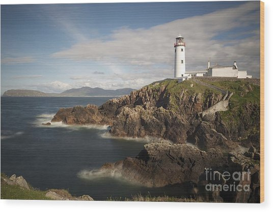 Donegal Lighthouse Wood Print by Andrew  Michael