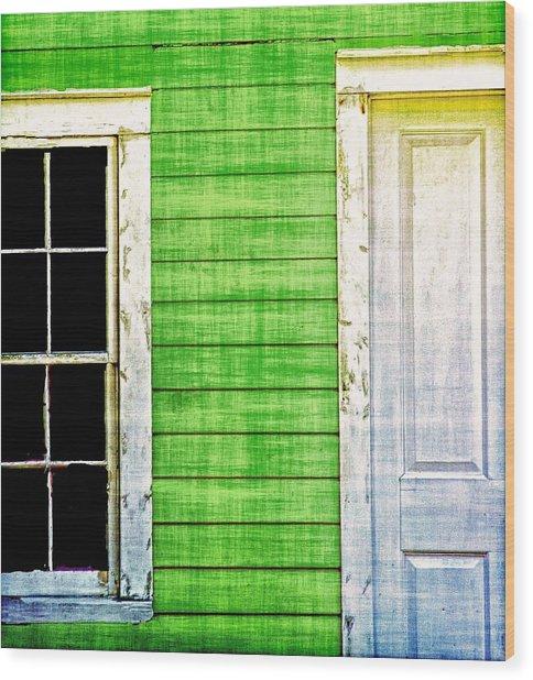 Door And Window Wood Print