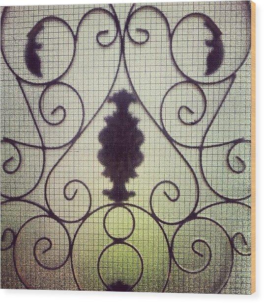 #door #glass #garden #art #home #house Wood Print