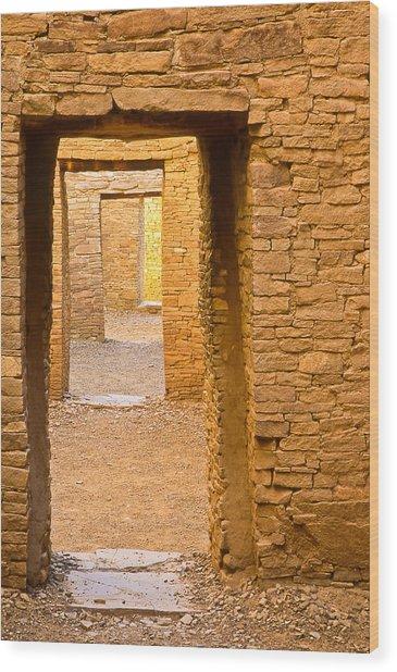 Doorway Chaco Canyon Wood Print