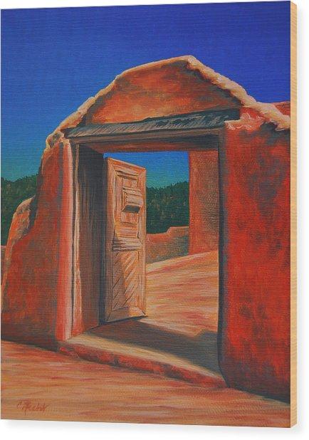 Doorway To Las Trampas Wood Print