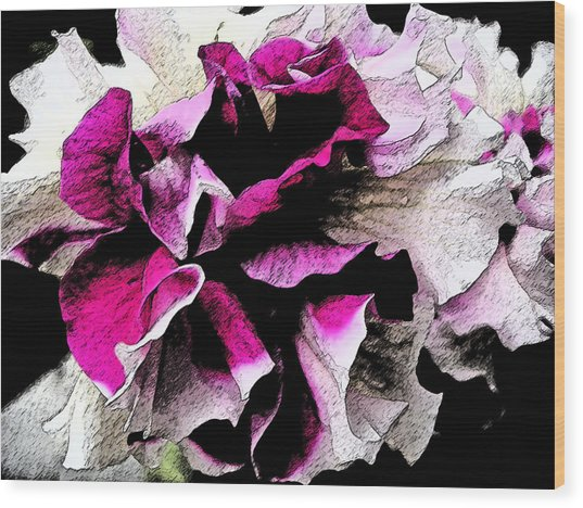 Double The Frill Wood Print by Yvonne Scott
