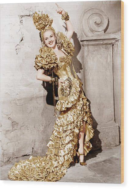 Down Argentine Way, Betty Grable, 1940 Wood Print by Everett