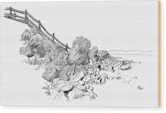 Down East Transport Wood Print