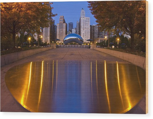 down the aisle toward Cloudgate Wood Print