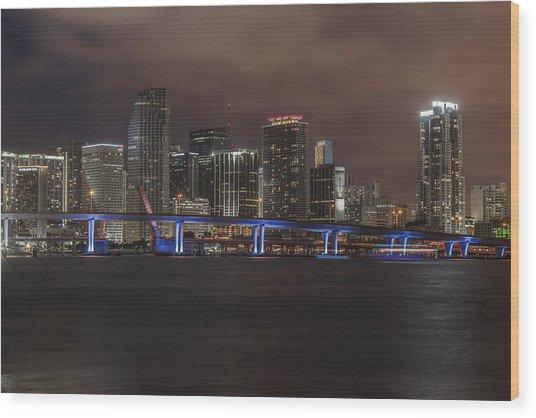 Downtown Miami 2012 Wood Print by Dan Vidal