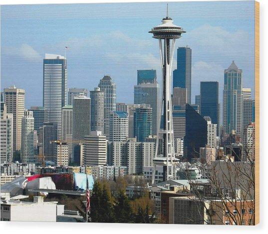 Downtown Seattle Wood Print