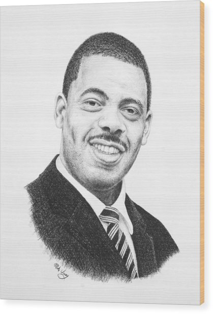 Dr. Kenny Baldwin Wood Print