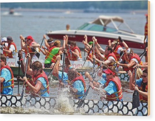 Dragon Boat Regatta 2 Wood Print