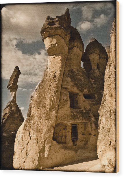 Pasabag Valley, Turkey - Dragon Rock Wood Print