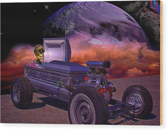 Dragula Munster Dragster Replica Wood Print by Tim McCullough