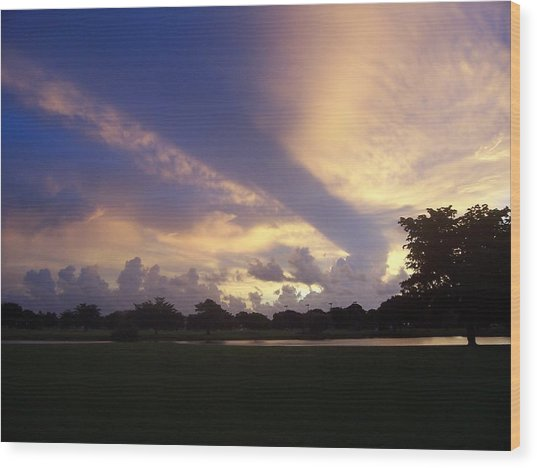 Dramatic Sky Wood Print