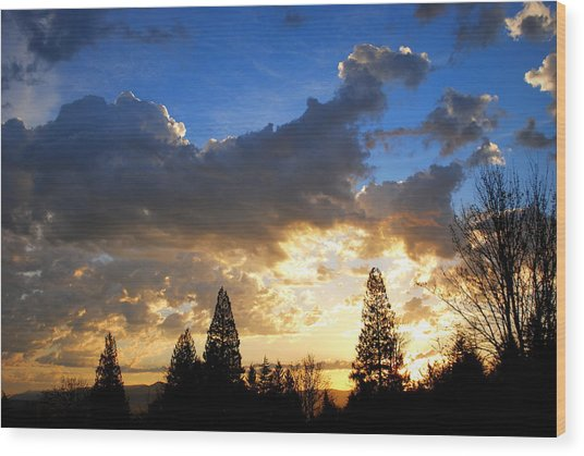 Dramatic Sunrise  Wood Print