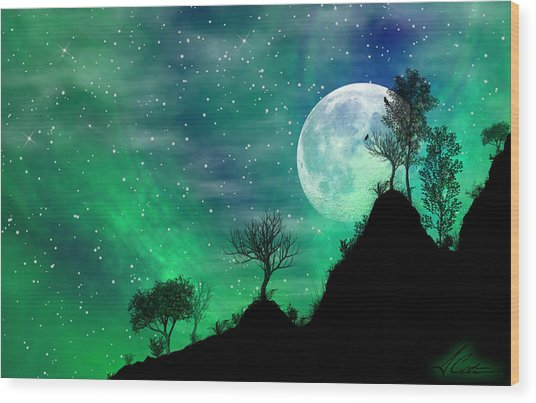 Dreamy Night Wood Print by Anthony Citro
