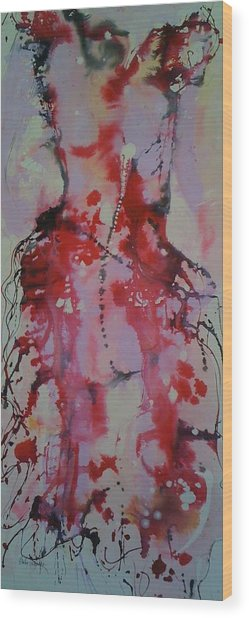 Dress Series 1 Wood Print