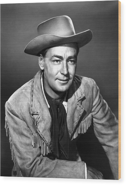 Drum Beat, Alan Ladd, 1954 Wood Print by Everett