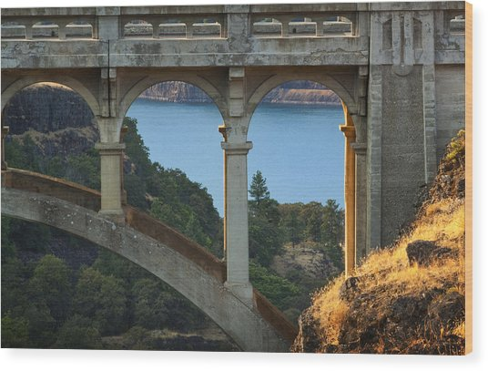 Dry Canyon Bridge Wood Print