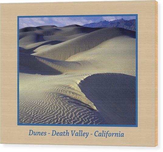 Dunes Poster Wood Print