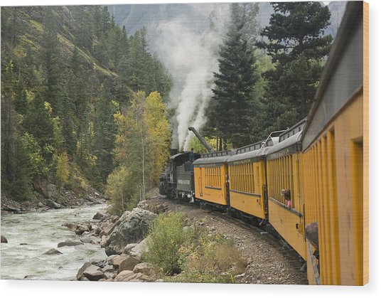 Durango-silverton Train - 1161 Wood Print