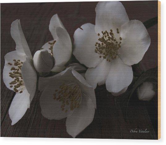 Dusk Blooms Wood Print by Debra     Vatalaro