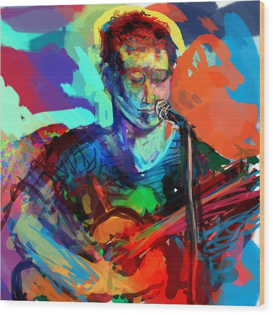 Dylan's Performance Wood Print by James Thomas