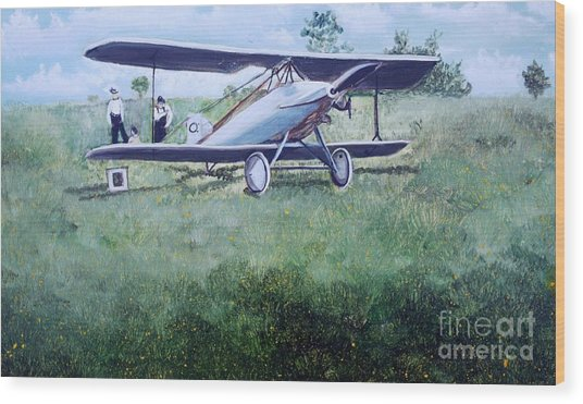 E Ppley Airfield Wood Print by Judy Groves