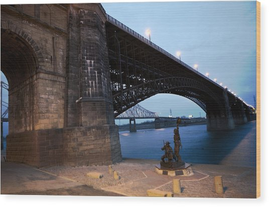 Eads Bridge Lewis And Clark Landing Wood Print