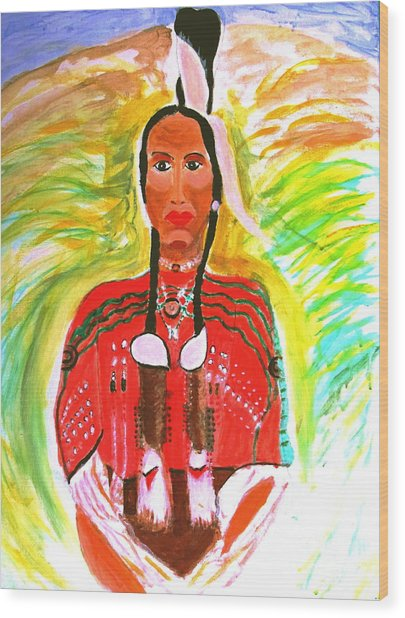 Eagle Feather Native American Wood Print