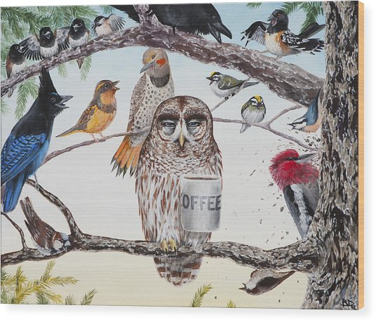 Early Birds Wood Print