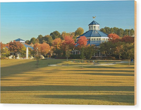 Early Morning Coolidge Park Wood Print