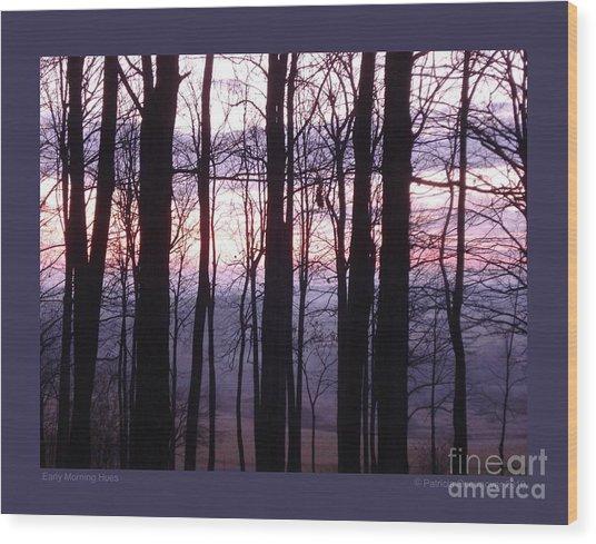 Early Morning Hues Wood Print