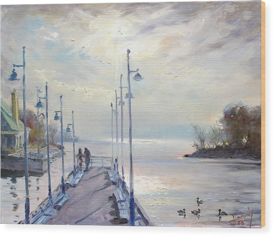 Early Morning In Lake Shore Wood Print