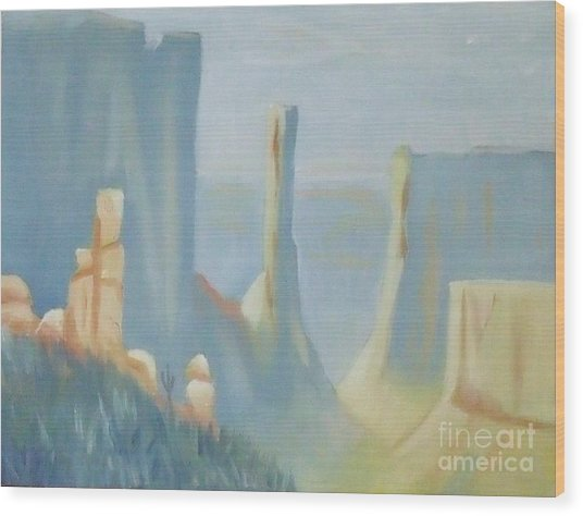 Early Morning In The Canyon Wood Print by Debra Piro