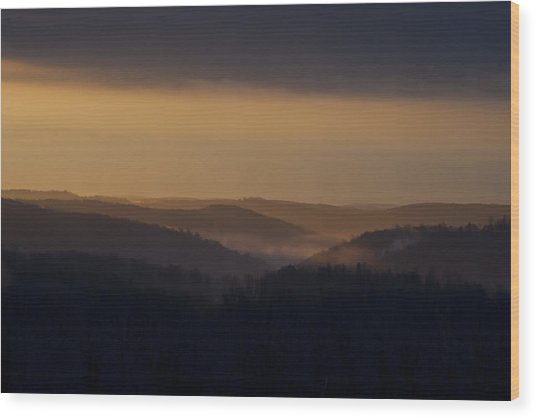 Early Morning Sunrise Wood Print