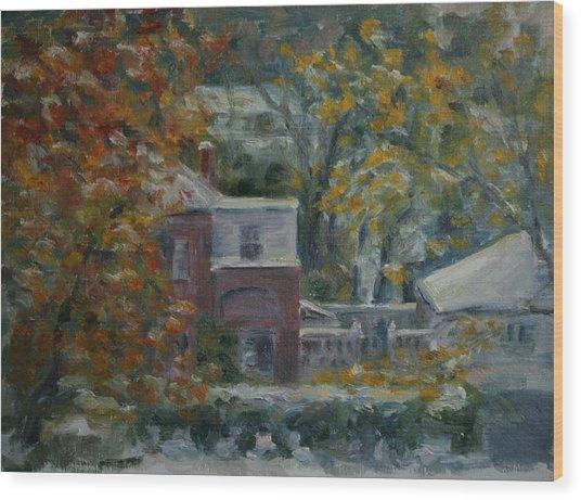 Early Snow Hartford Wood Print