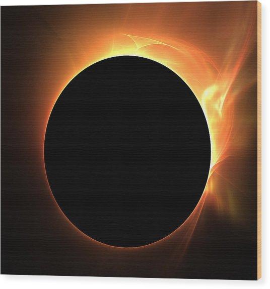 Eclipse Wood Print by Kim French